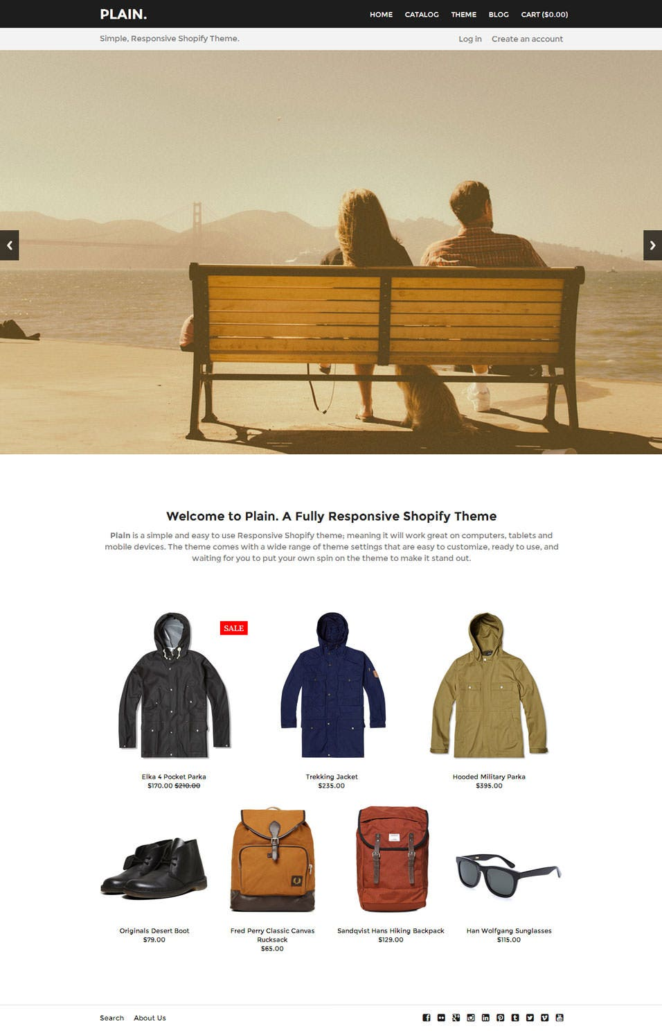 shopify website templates