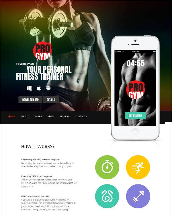 progym fitnessgym joomla template