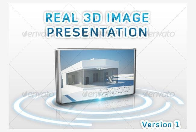 real 3d image presentation photo template