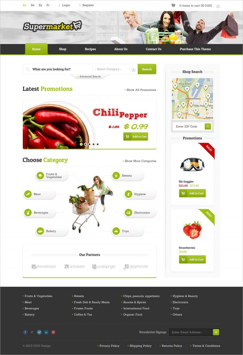 Responisve eShop HTML5 Website Template