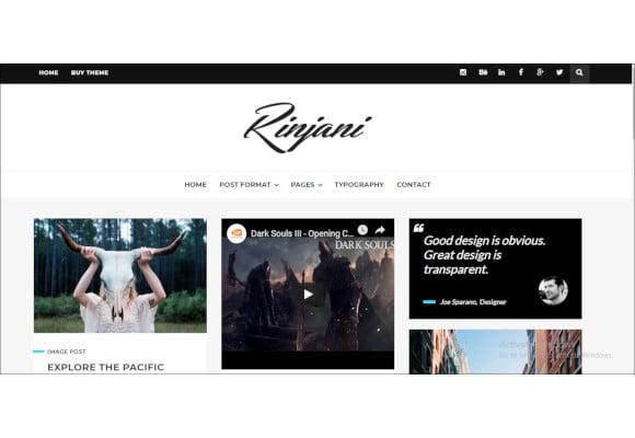 responsive grid blog theme
