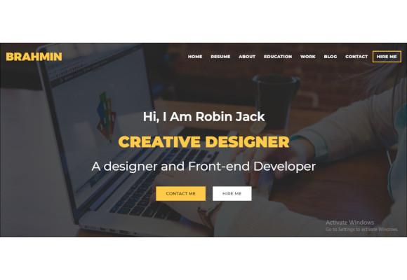 responsive one page portfolio template