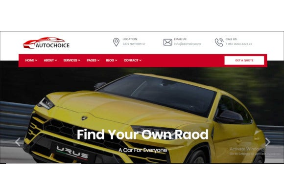 responsive premium car dealer html template
