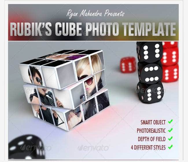 rubiks cube photo template