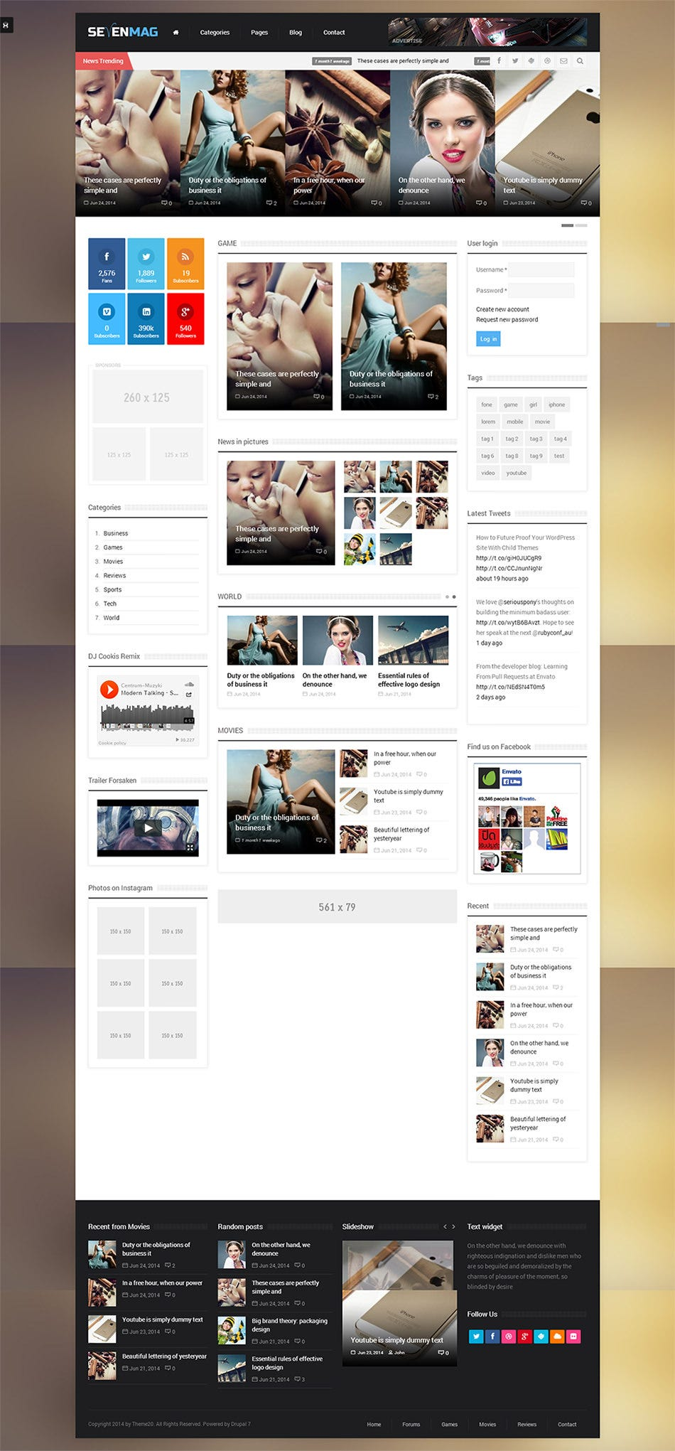 15 best drupal blog templates themes free premium templates sevenmag pronofoot35fo Images