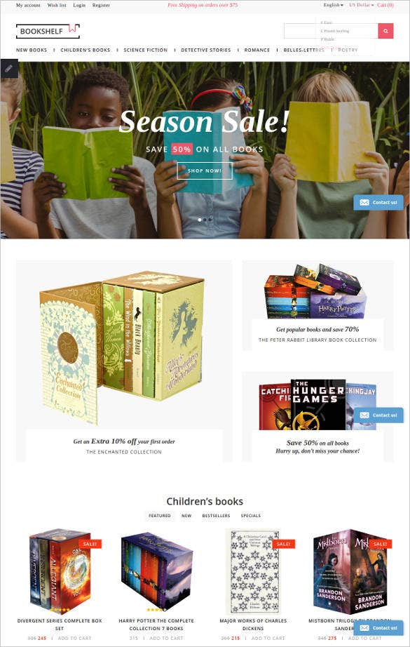 simple book store opencart website template1