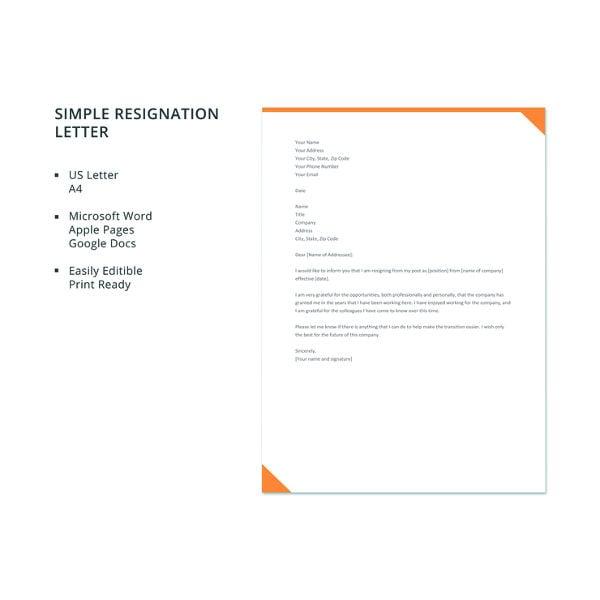 40+ Resignation Letter Example | Free & Premium Templates