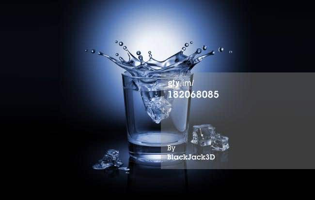 splash in the glass photo template
