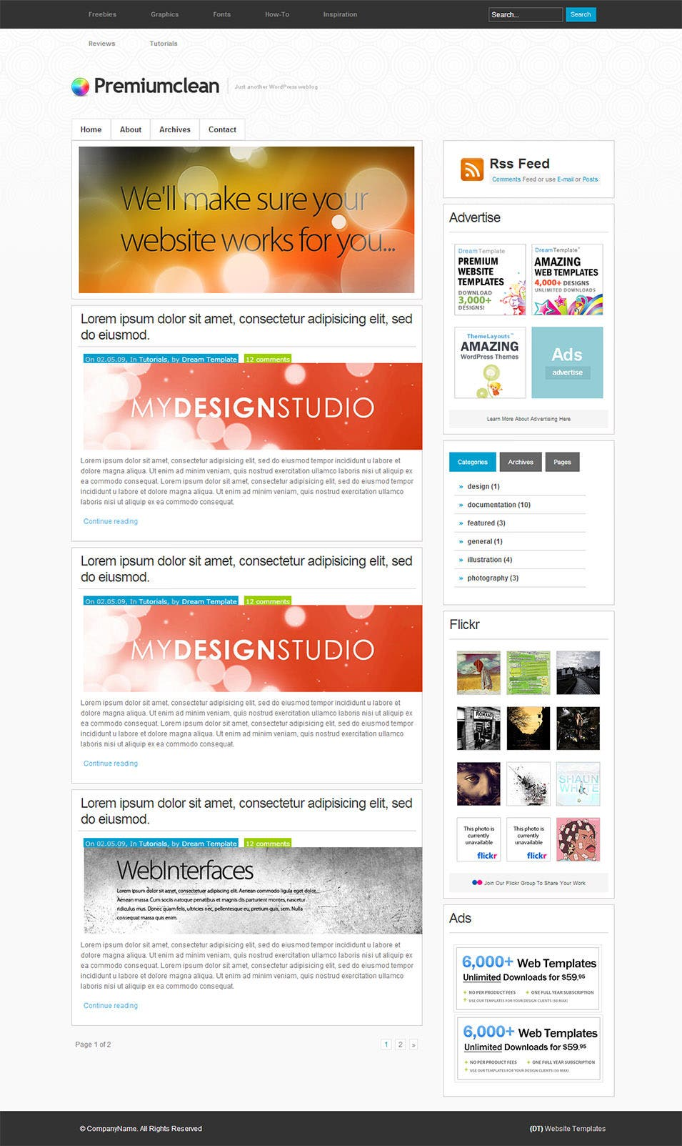 25+ Blog Style Website Templates | Free & Premium Templates