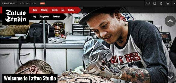 tattoo studio responsive html5 website template 44