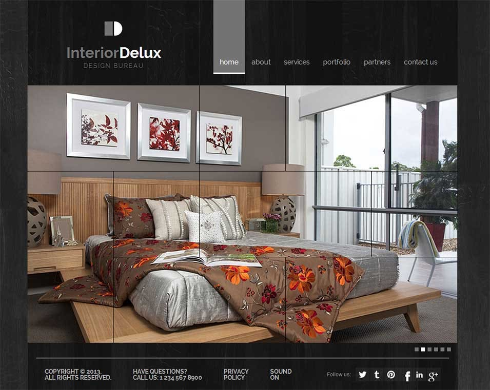 The Interior Design Template 300111645 Is A Very Beautiful That Provides Portfolio Of Designer For