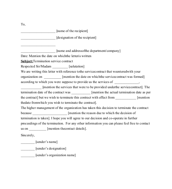 services contract template