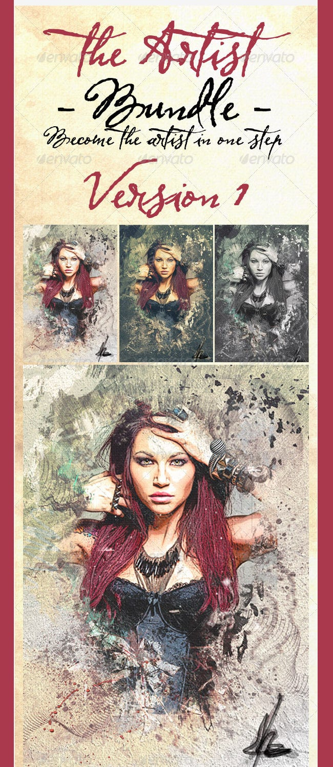 the artist bundle psd photo templates