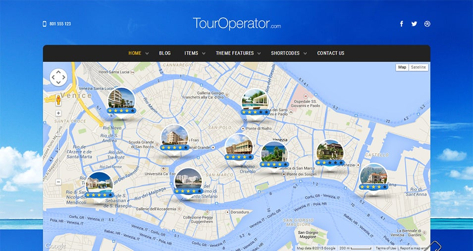 Touroperator WordPress Template