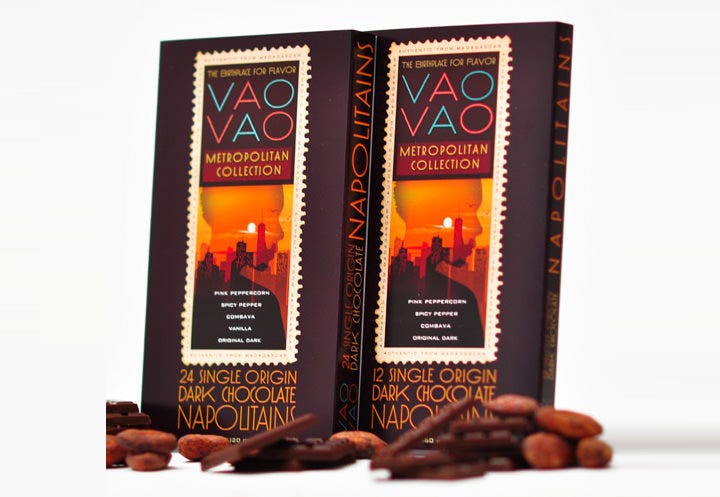 vao vao chocolate package design