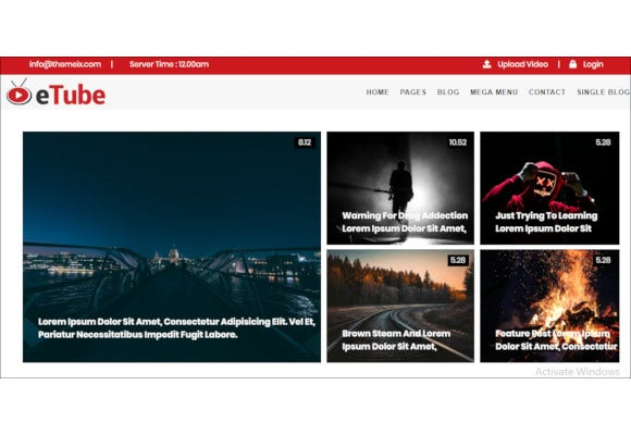 video blog magazine entertainment site template