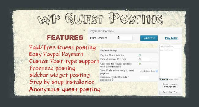 WordPress Guest Posting Plugin