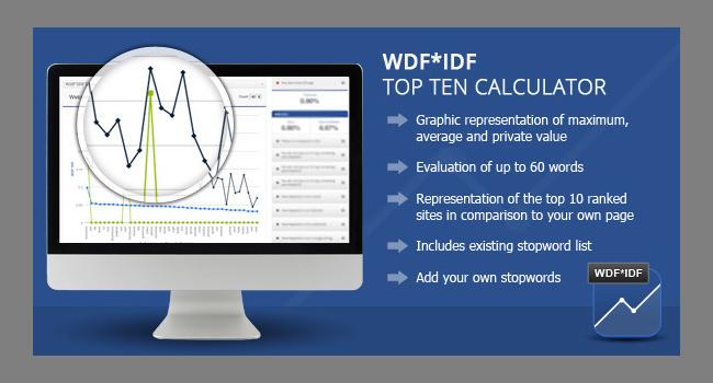 Wordpress WDF IDF SEO Calculator