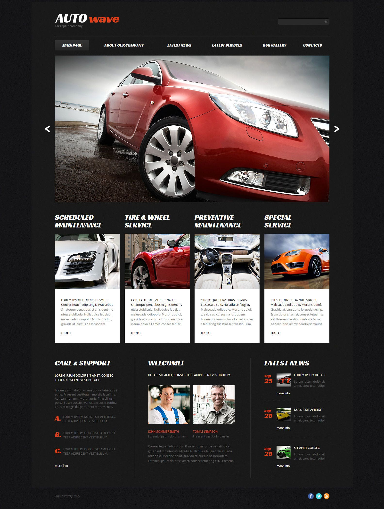 22  best premium car website templates