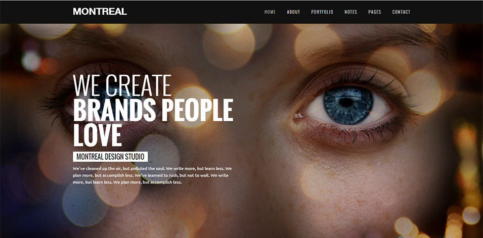Montreal Fully Responsive Drupal Templates