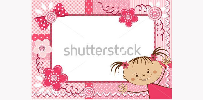 pink children frame
