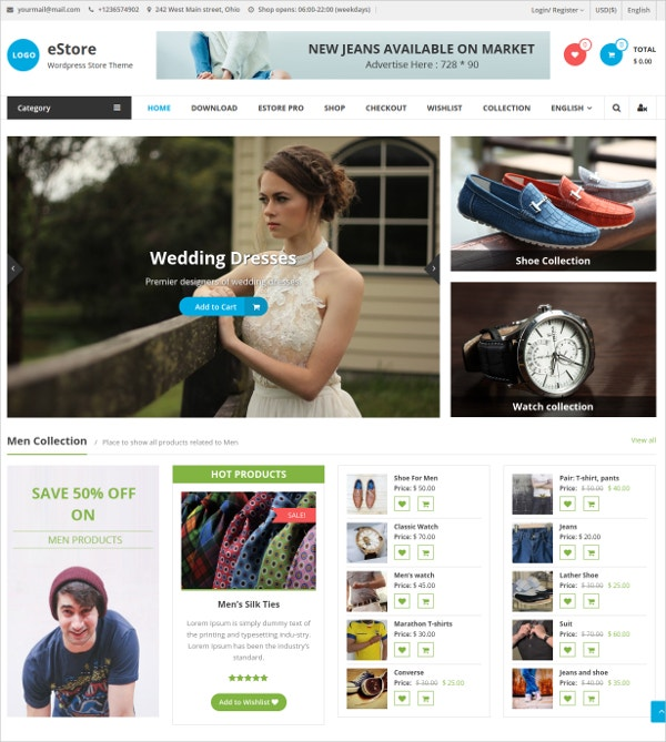 Free Attractive Online Store WooCommerce Theme