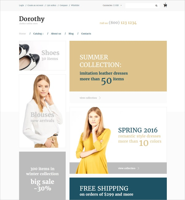 Summer Collection VirtueMart Template $139