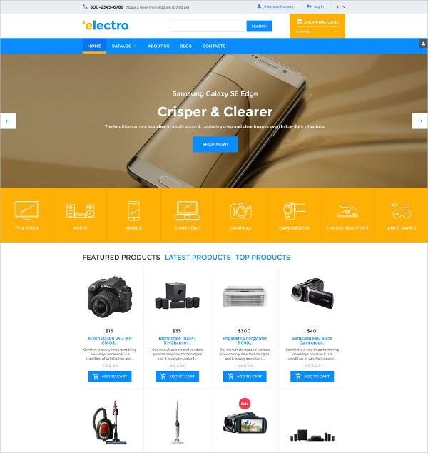 Electronic Gadget VirtueMart ShopTemplate $139