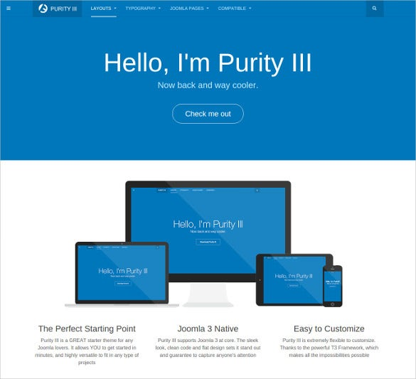 free great starter joomla theme