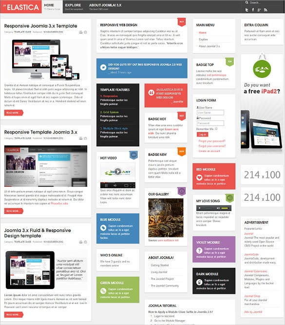 19 free responsive joomla templates themes free for Free joomla template creator software
