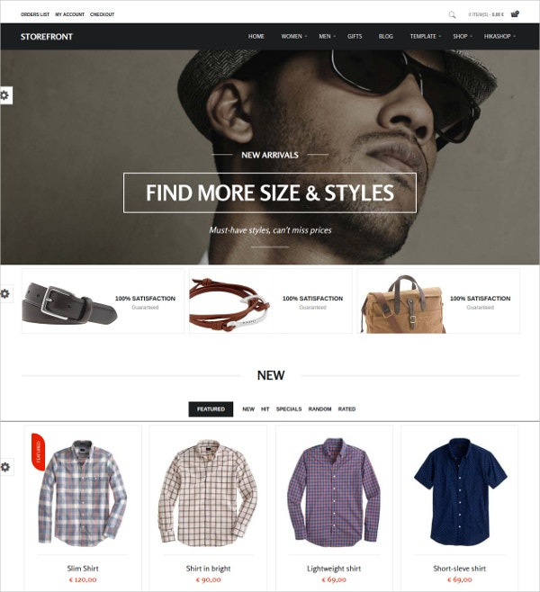Clothing Store Joomla Virtuemart Shop Theme $39