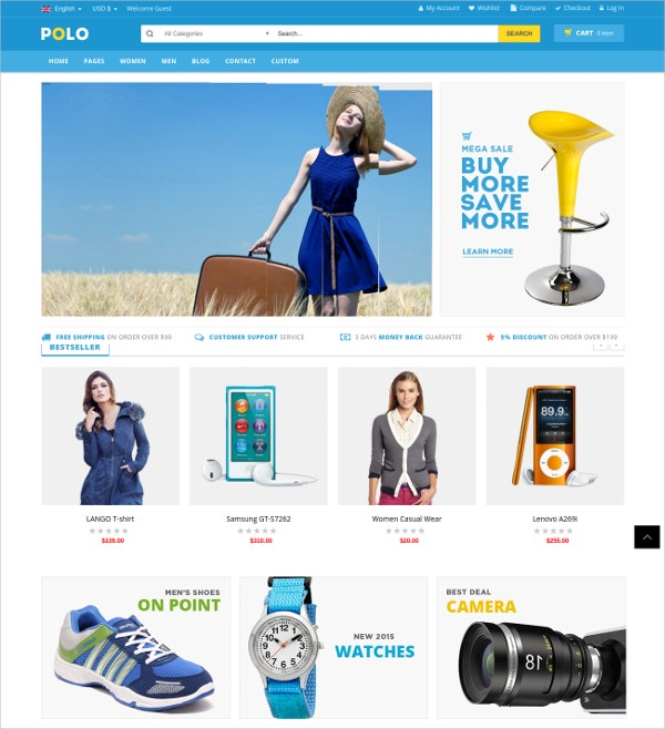 Premium Multipurpose Virtuemart Shop Theme $55