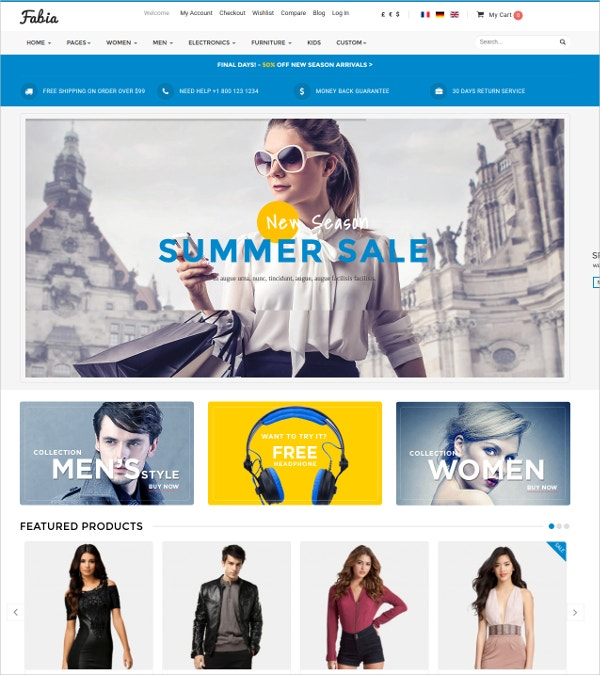 eCommerce Virtuemart Shop Website Theme $55