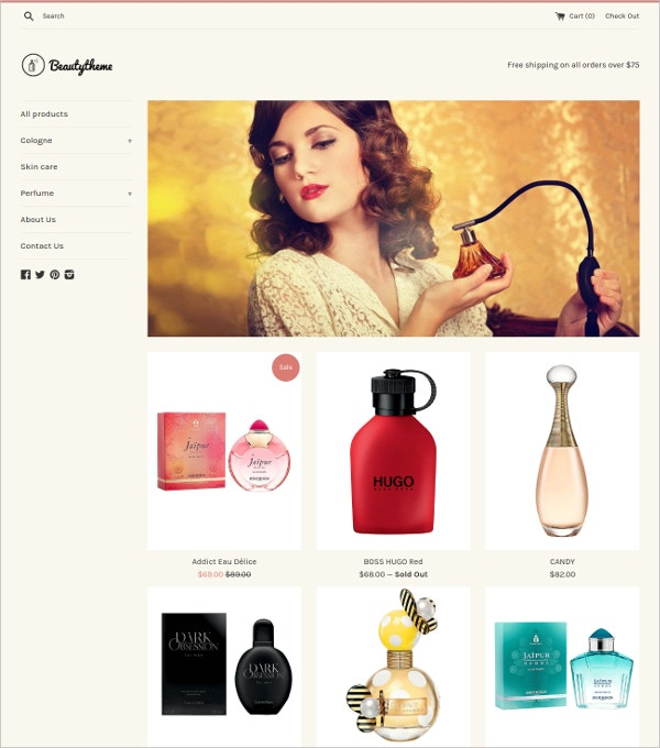 Free Beauty Products eCommerce Shopify Theme
