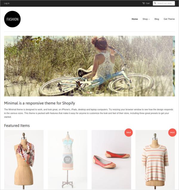 Free Minimal Fashion Shopify Theme