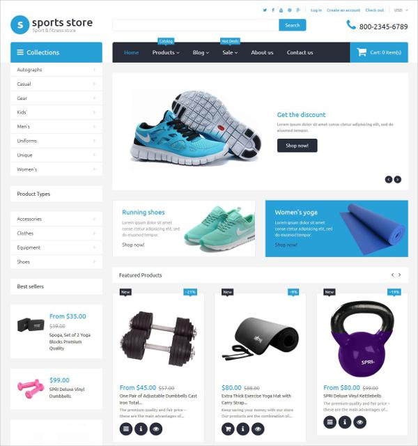 Free Sports Shoes Store Shopify Theme