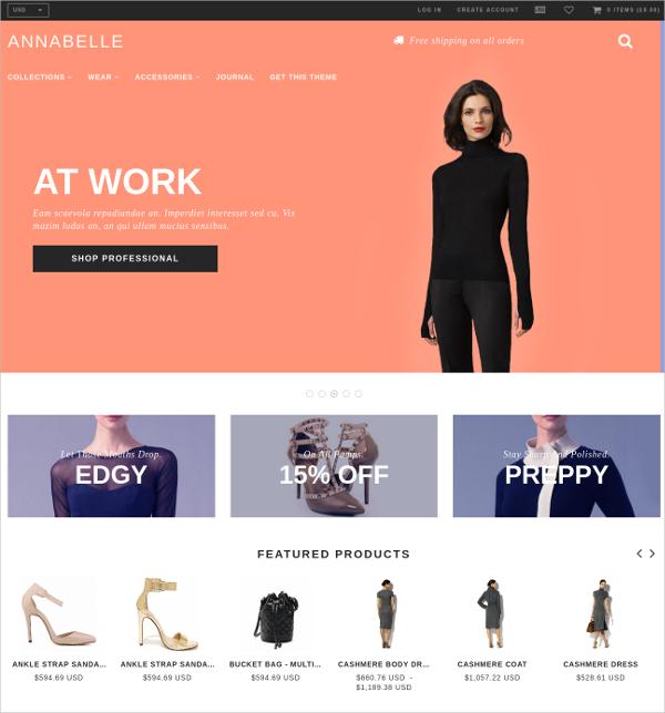 Free Elegant eCommerce Shopify Theme
