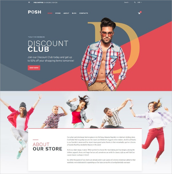Fashion Clothes WooCommerce Theme $114