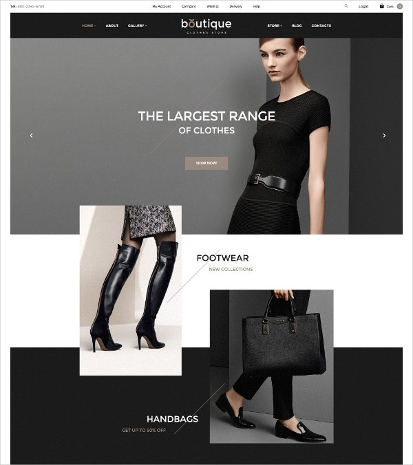Fashion Clothes & Handbags WooCommerce Theme $114