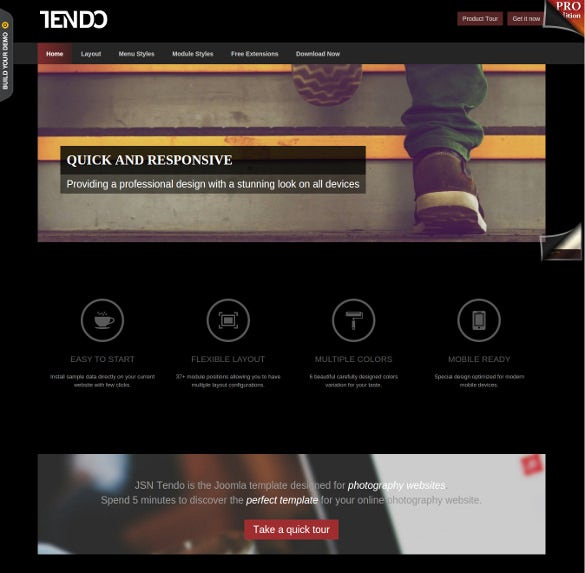 19 free responsive joomla templates themes free for Free photography website templates