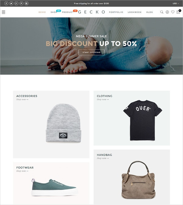 Online Fashion WooCommerce Store Theme $59