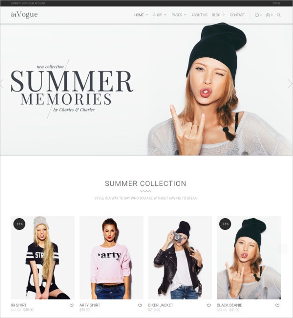 WordPress eCommerce Fashion Shopping WooCommerce Theme $59