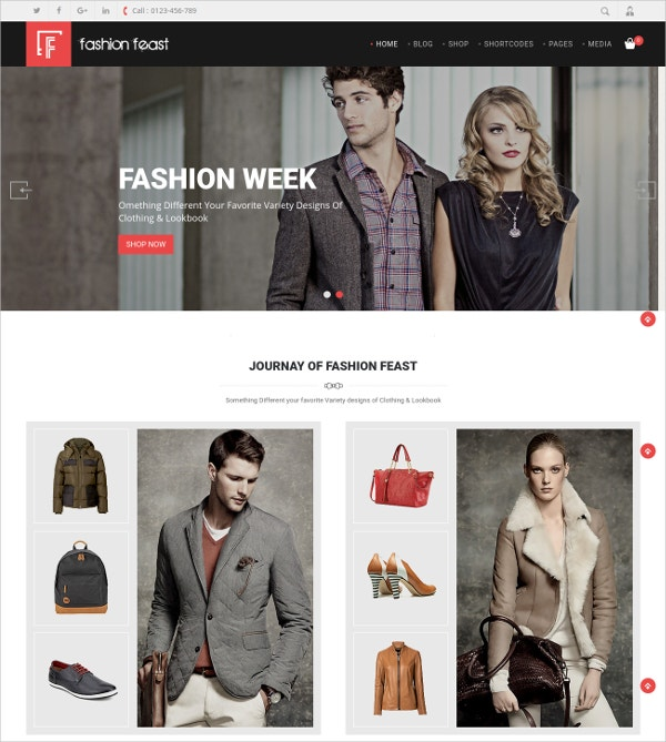 Fashion WooCommerce Shopping Responsive Theme $59