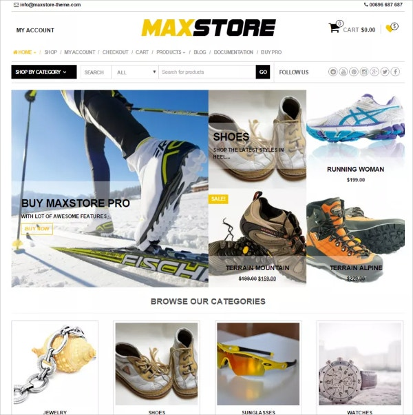 Free Fashion Sport WooCommerce Store Theme