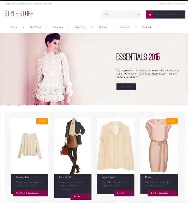 Free Fashion Boutique WooCommerce Store Theme