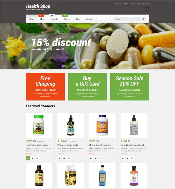 Medicine ShopWooCommerce Theme $114