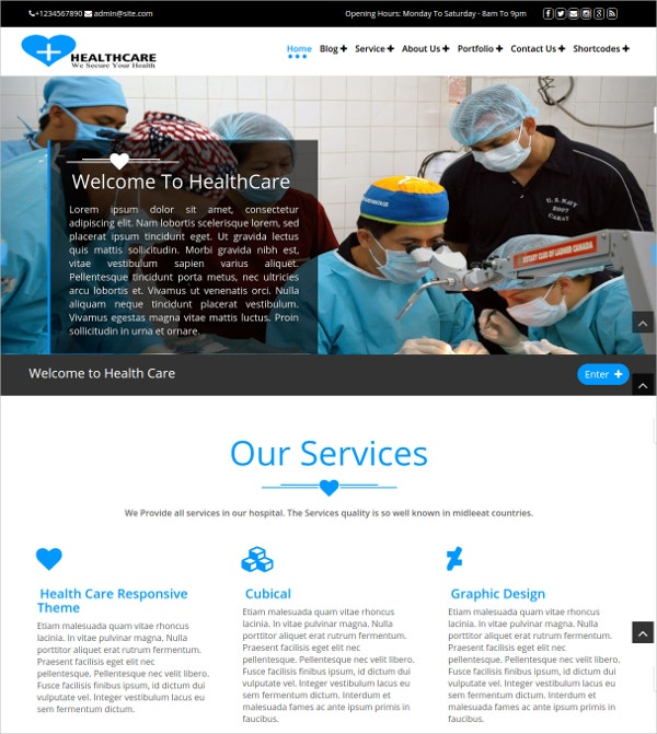 Medical & Healthcare Premium WordPress WooCommerce Theme $41