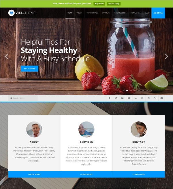 Medical Industries Woocommerce Theme $69