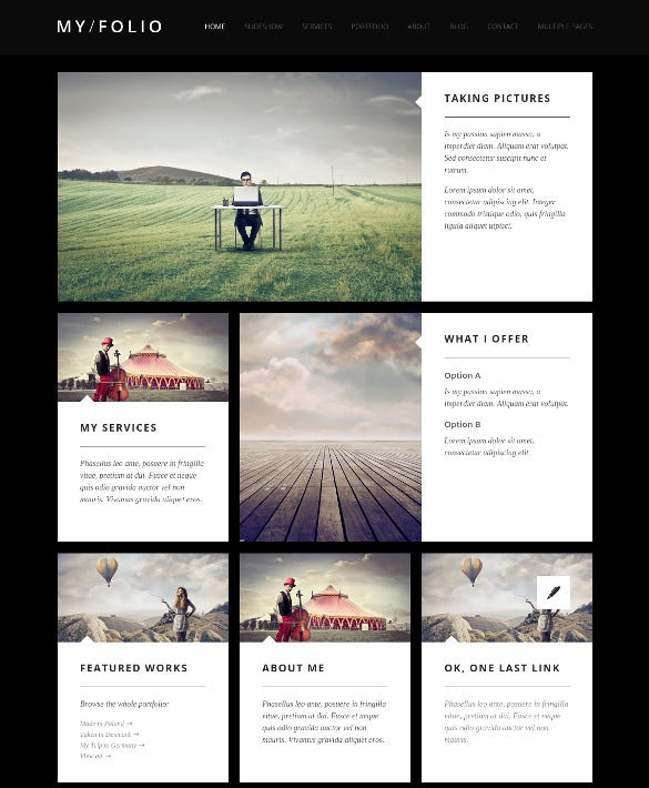 joomla blog photography template