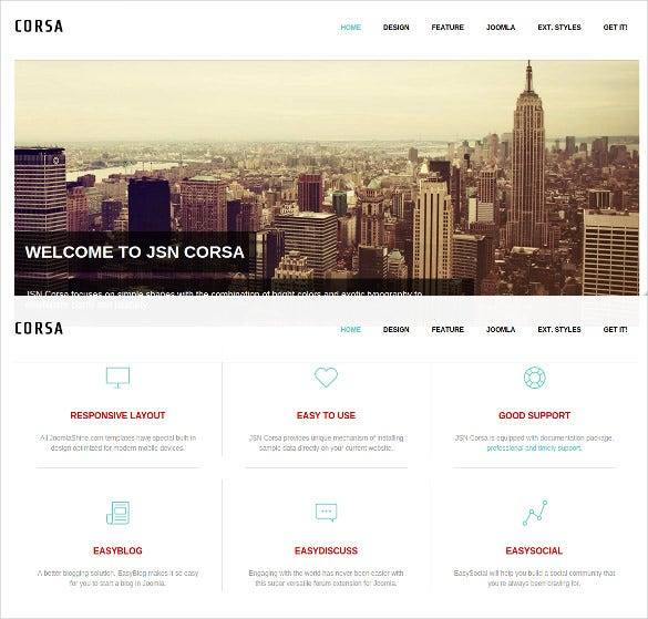 fully responsive photography joomla template